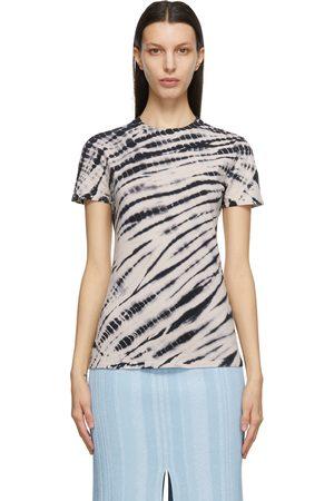 Proenza Schouler Women T-shirts - Navy Tie-Dye T-Shirt