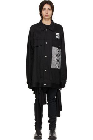 RAF SIMONS Women Denim Jackets - Joy Division Edition Denim Oversized Jacket