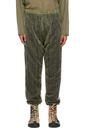 SOUTH2 WEST8 Khaki Skull and Target Bush String Trousers