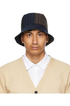 BARENA Navy and Linen Gianto Bucket Hat
