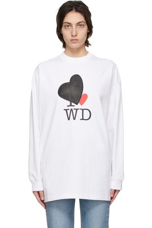 We11 Done Heart Patch Long Sleeve T-Shirt
