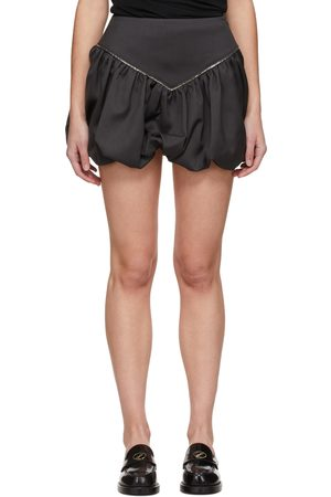 We11 Done Grey Chain Miniskirt