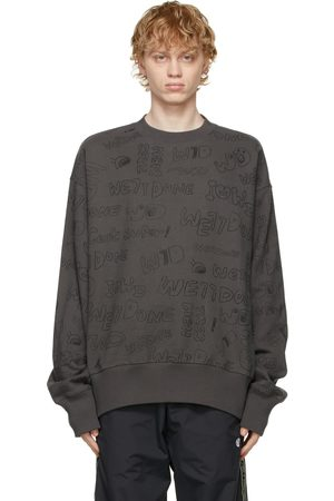 We11 Done Grey Graffiti Graphic Sweatshirt
