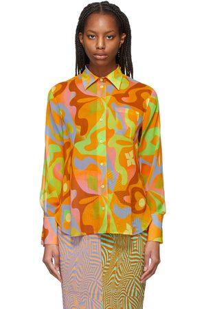 Julia Heuer Orange Silk Novi Shirt