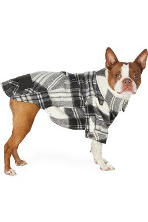 We11 Done SSENSE Exclusive Grey Wool Check Anorak Shirt