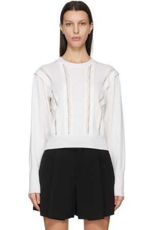 Chloé Wool and Lace Embellished Sweater