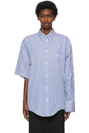 Balenciaga And Asymmetric Striped Shirt