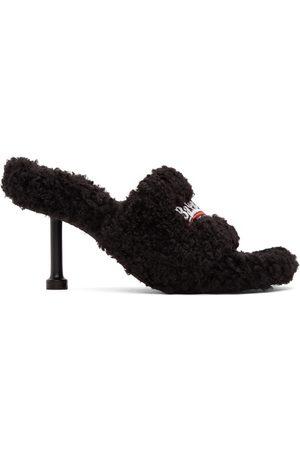 Balenciaga Furry 80mm Heeled Sandals