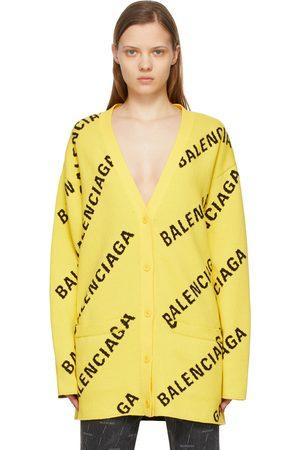 Balenciaga Women Cardigans - Allover Logo Cardigan