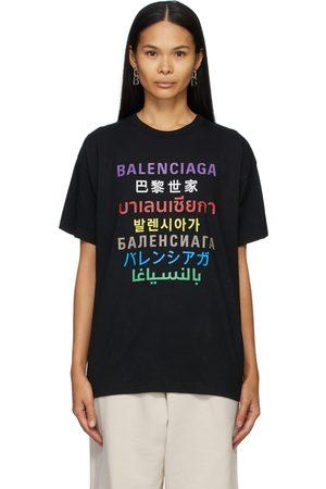 Balenciaga Women T-shirts - Languages T-Shirt