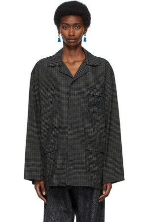 Balenciaga Navy and Khaki Pajama Shirt