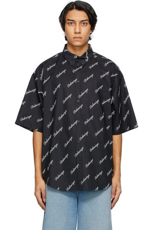 Balenciaga Men Short sleeves - Script Logo Short Sleeve Shirt