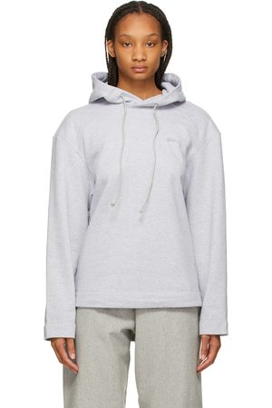 JUUN.J Women Hoodies - Grey Embroidered Nouvelle Tendance Hoodie