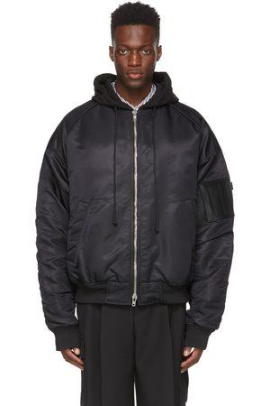 JUUN.J Detachable Hood Bomber Jacket