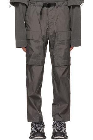 JUUN.J Grey Taffeta Outdoor Cargo Pants