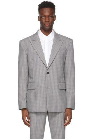 JUUN.J Grey Wool Check Glen Blazer