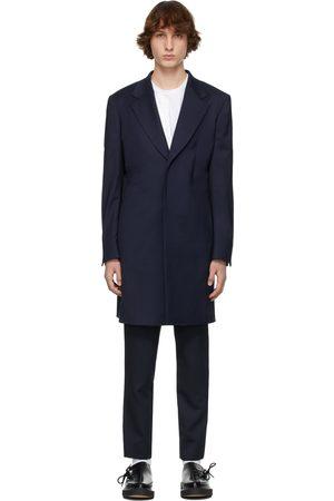 Comme des Garçons Navy Wool Gabardine Coat