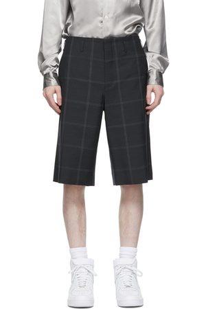 Comme des Garçons Grey Windowpane Shorts