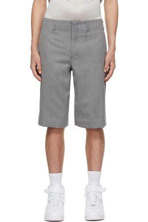 Comme des Garçons Grey Wool Serge Shorts