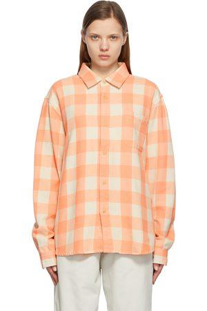 STUSSY Women Shirts - Plaid Peach Shirt
