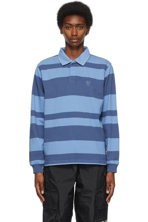 STUSSY Two-Tone Stripe Long Sleeve Polo
