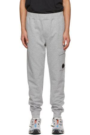 C.P. Company Grey Fleece Diagonal Raised Lounge Pants