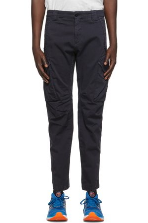 C.P. Company Navy Stretch Sateen Garment-Dyed Utility Cargo Pants