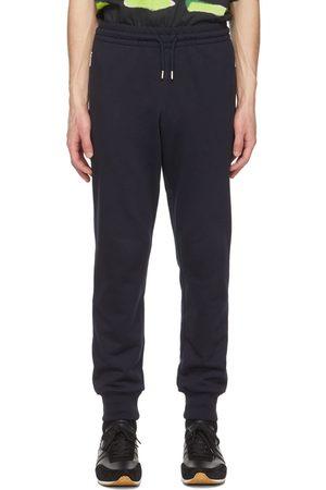 DRIES VAN NOTEN Men Sweats - Navy French Terry Lounge Pants