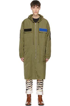 DRIES VAN NOTEN Khaki Long Coat