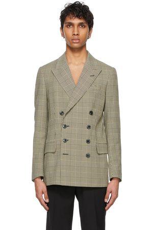 DRIES VAN NOTEN Men Blazers - Twill Checkered Blazer