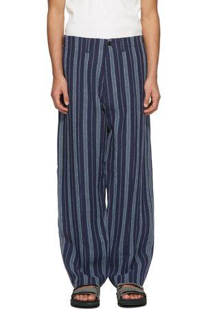 Nicholas Daley Men Pants - Navy 70s Trousers