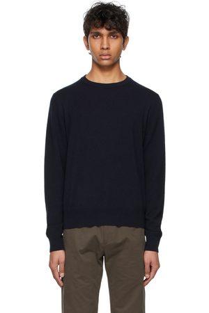 The Row Men Sweaters - Navy Benji Sweater