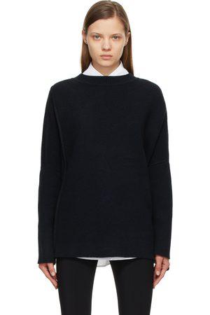 The Row Women Sweaters - Navy Cashmere Cordelia Sweater