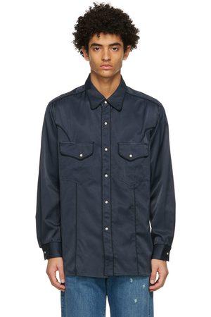 Nicholas Daley Men Shirts - Navy Western Shirt
