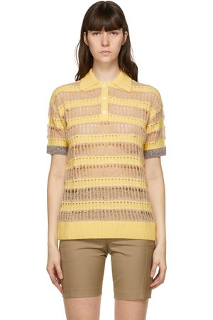 Andersson Bell And Beige Wool Bubble Knit Moana Polo