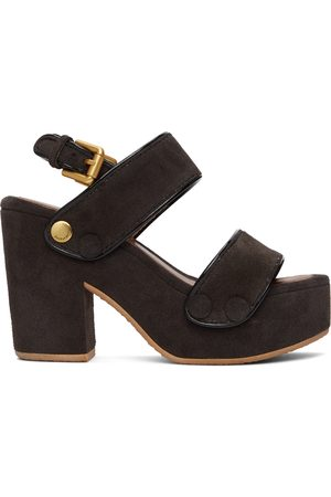 See by Chloé Suede Galy Heeled Sandals
