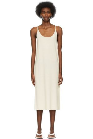 Arch The SSENSE Exclusive Off- Silk and Cashmere Dress