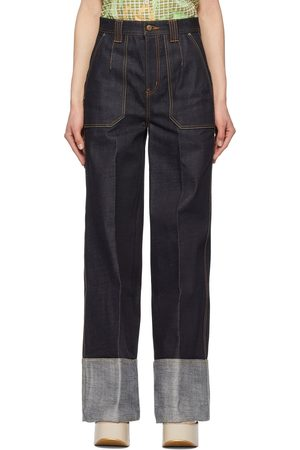 Andersson Bell Indigo Selvedge Mona Turn-Up Jeans