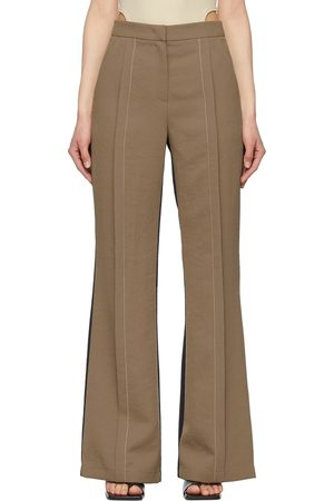 Andersson Bell And Navy Saatchi Semi-Bell Bottom Trousers
