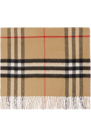 Burberry And Cashmere Giant Check Scarf
