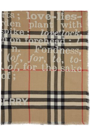Burberry Cashmere Check Love Scarf