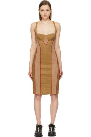 Burberry Women Dresses - Tan Quilted Alanis Corset Dress
