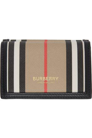 Burberry Women Wallets - E-Canvas Icon Stripe Lark Trifold Wallet
