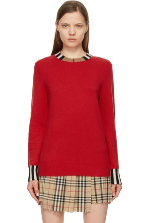 Burberry Women Sweaters - Cashmere Icon Stripe Trim Eyre Sweater