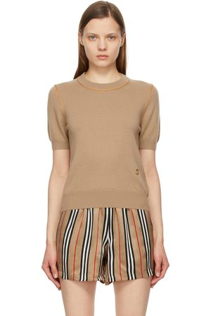 Burberry Cashmere Constance Short Sleeve Sweater