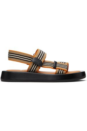 Burberry And Icon Stripe Eve Flat Sandals