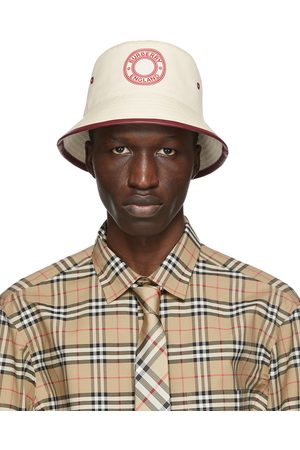 Burberry And Canvas Logo Bucket Hat