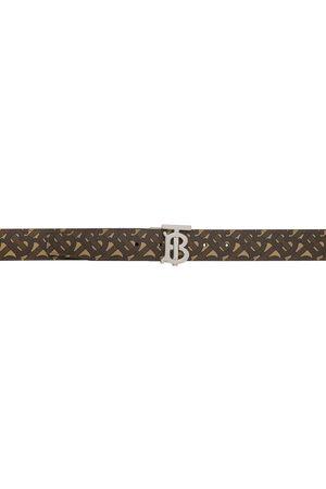 Burberry Reversible E-Canvas Monogram TB Belt