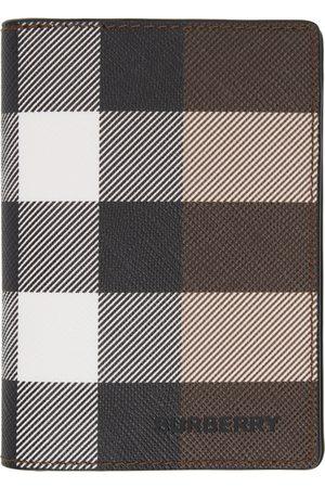 Burberry E-Canvas Giant Check Flint Bifold Card Holder