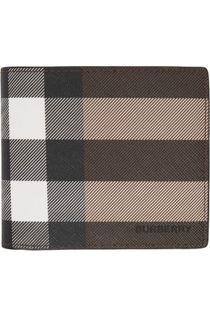 Burberry E-Canvas Giant Check Bifold Wallet